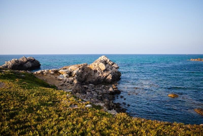 Mer et montagnes en Tunisie images libres de droits