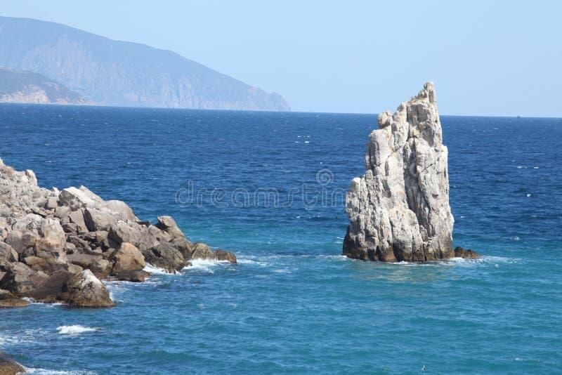 Mer et roches image libre de droits