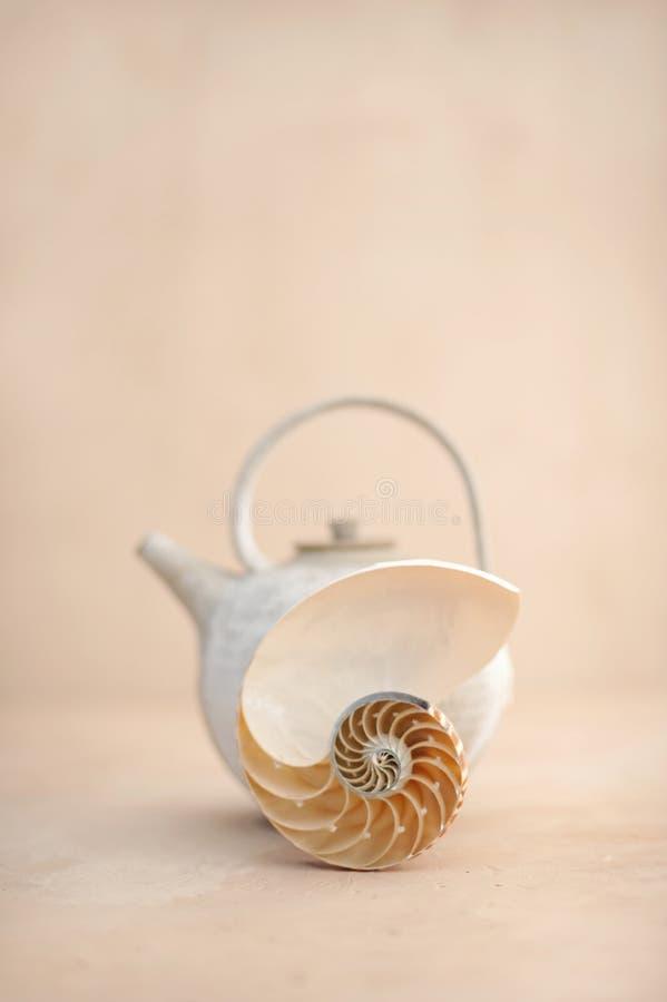 Mer et thé de zen photos libres de droits