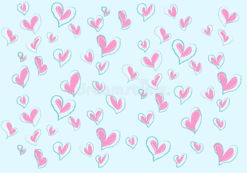 Mer förälskelser för valentin stock illustrationer