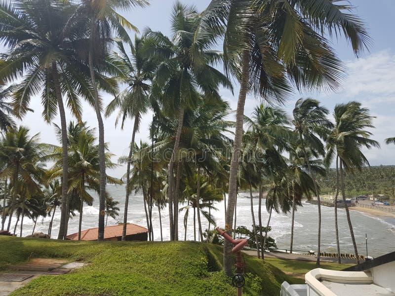 Mer faisant face à la pièce en Leela Hotel Kovalam, Kerala photographie stock libre de droits