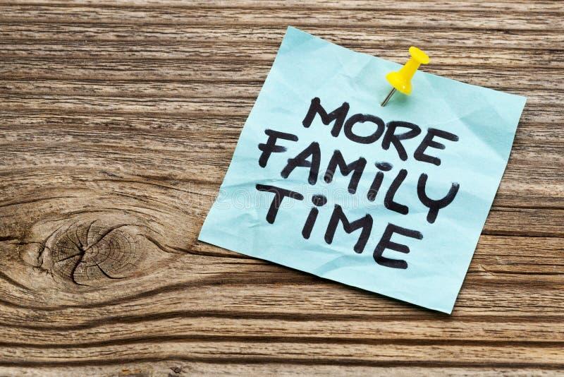 Mer familjtidpåminnelse royaltyfria foton