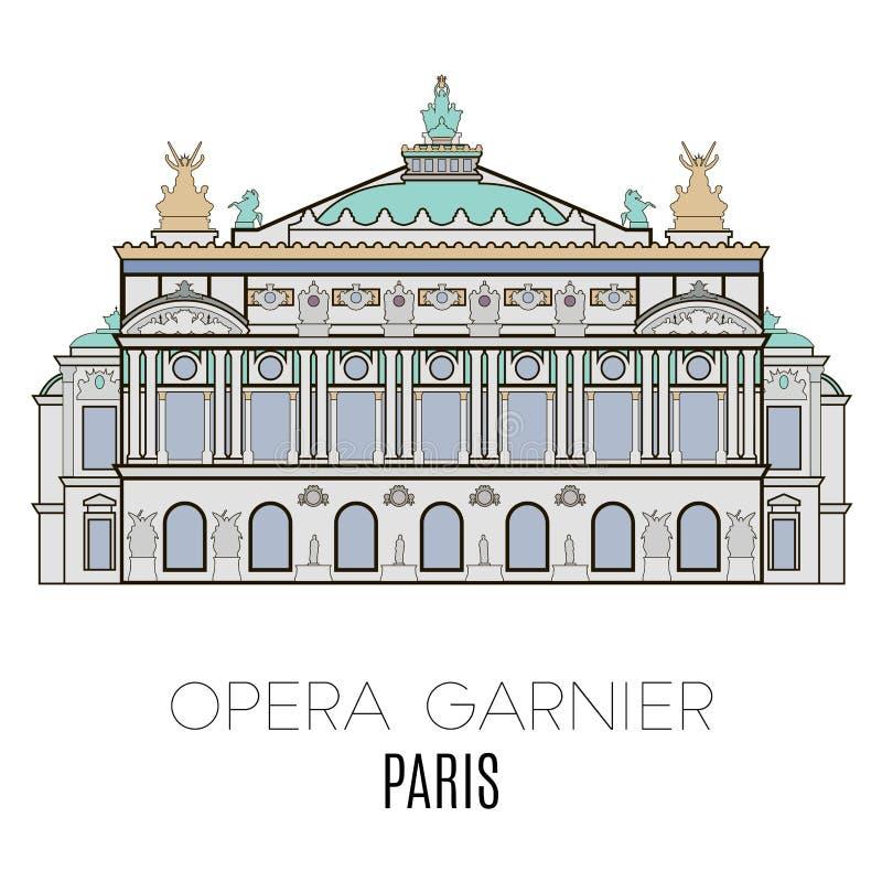 mer garnier opera paris vektor illustrationer