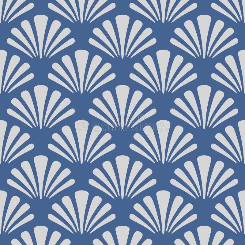 Mer japonaise Shell Pattern illustration stock