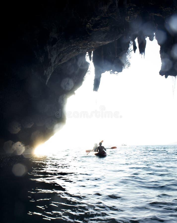 mer kayaking photo libre de droits