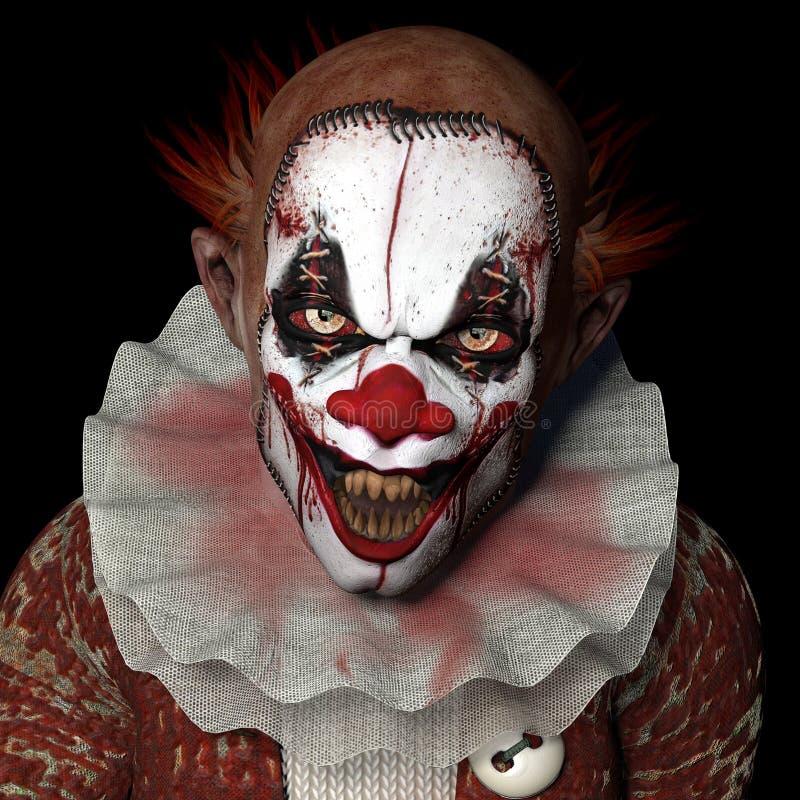 Mer läskig clown 1 stock illustrationer