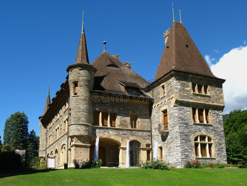 mer mercier sierre switzerland för 01 chateau arkivbilder