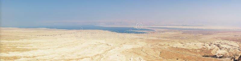 mer morte de panorama de judea de désert photo libre de droits