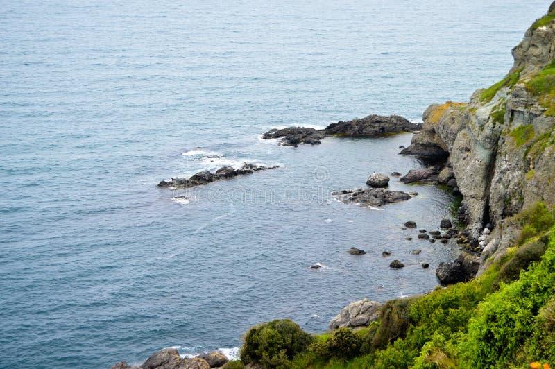 Mer onduleuse à un air venteux image stock