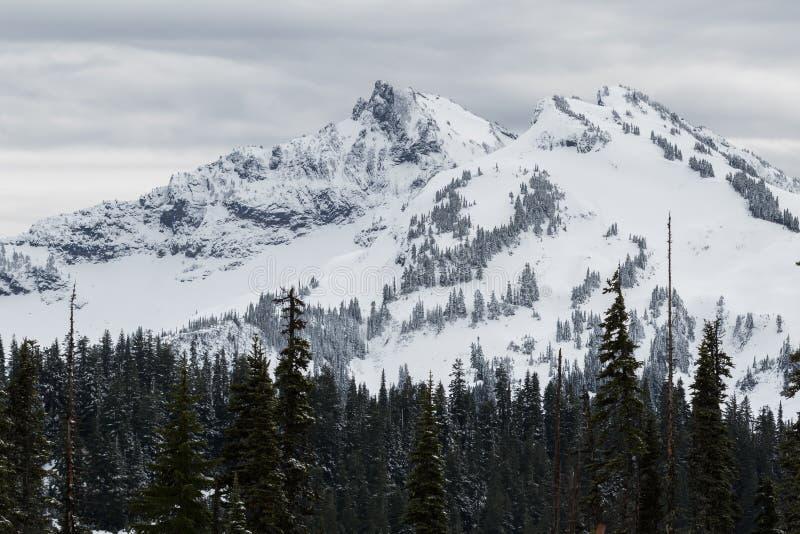 Mer regnig låg snönedgång för Mt på near vid maxima royaltyfria bilder