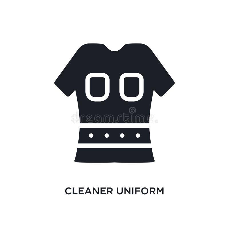 mer ren likformig isolerad symbol enkel beståndsdelillustration från rengörande begreppssymboler för logotecken för mer ren likfo royaltyfri illustrationer