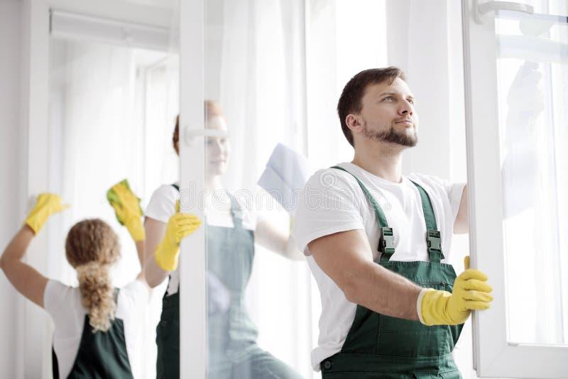 Mer ren tvagningfönster fotografering för bildbyråer
