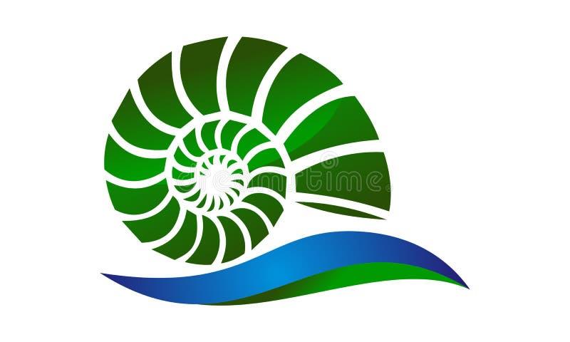 Mer Shell Modern illustration de vecteur