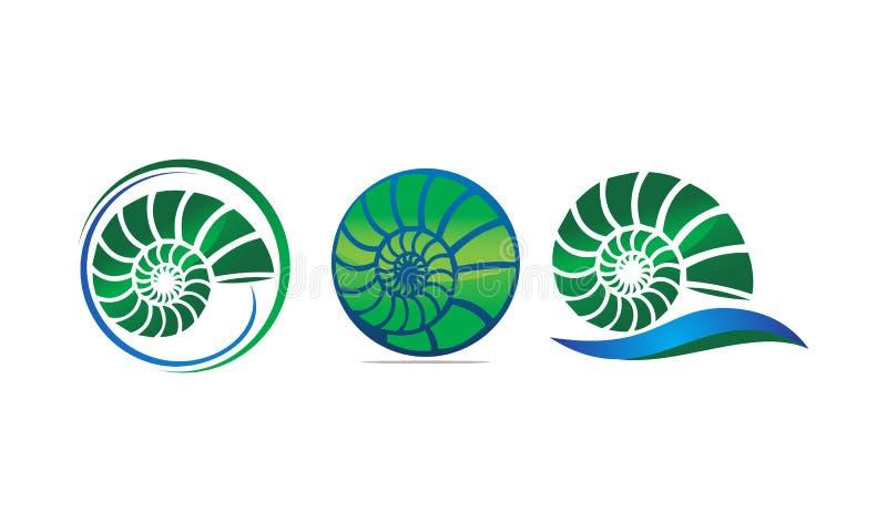 Mer Shell Modern Set illustration de vecteur