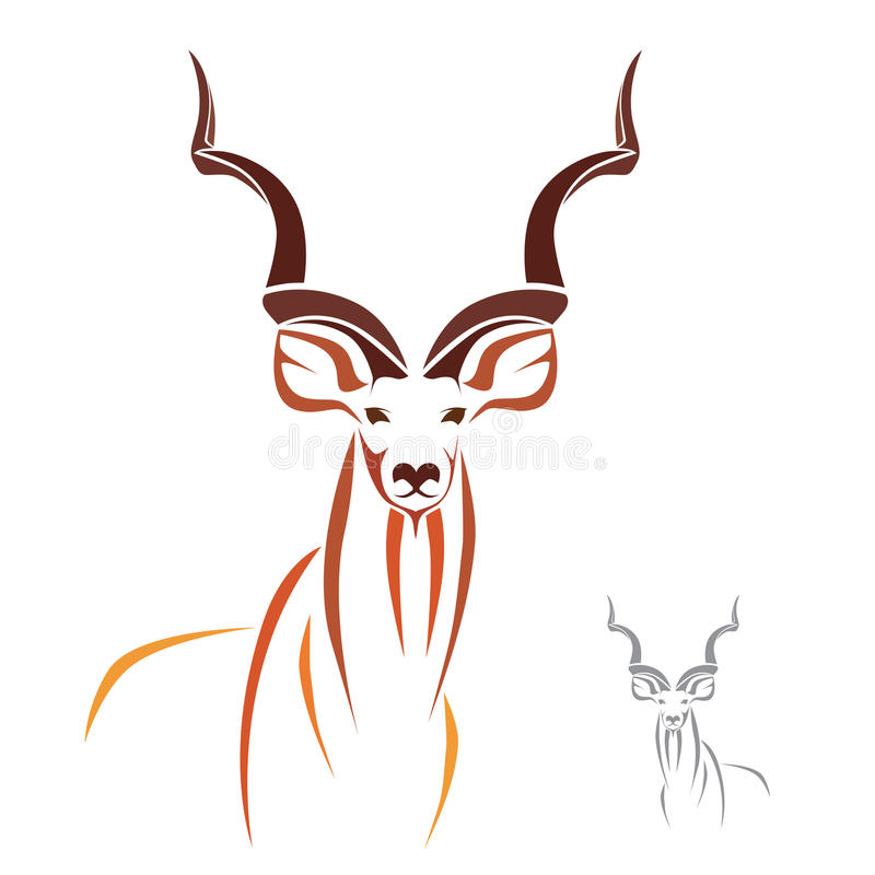 Mer stora Kudu stock illustrationer