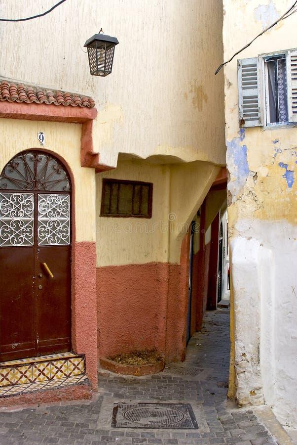 mer tangier morocco arkivfoto