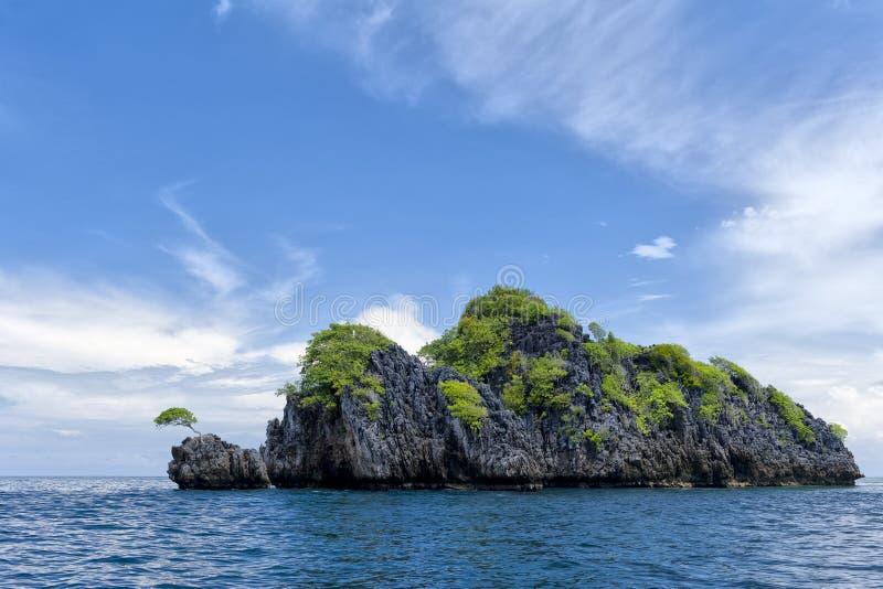 Mer tropicale Crystal Water d'océan de plage de paradis de turquoise de la Papouasie images stock