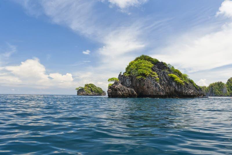 Mer tropicale Crystal Water d'océan de plage de paradis de turquoise de la Papouasie images libres de droits