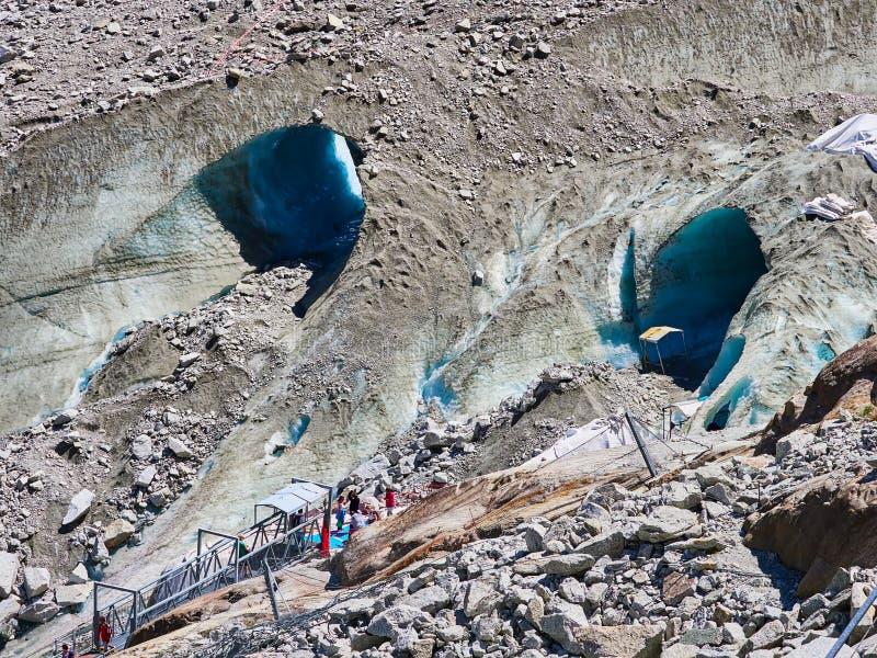 Mera De Glace lodowa jama, Chamonix, Francja obraz royalty free