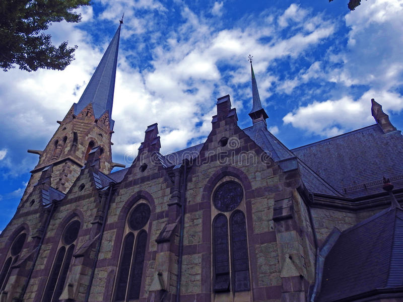 Merano - église luthérienne évangélique image libre de droits