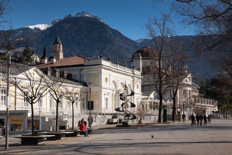 Merano Bolzano, Alto Adige, Italien royaltyfri bild