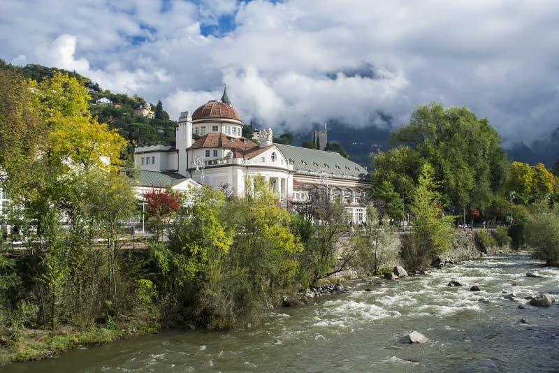 Merano, el Tyrol del sur, Italia imagen de archivo