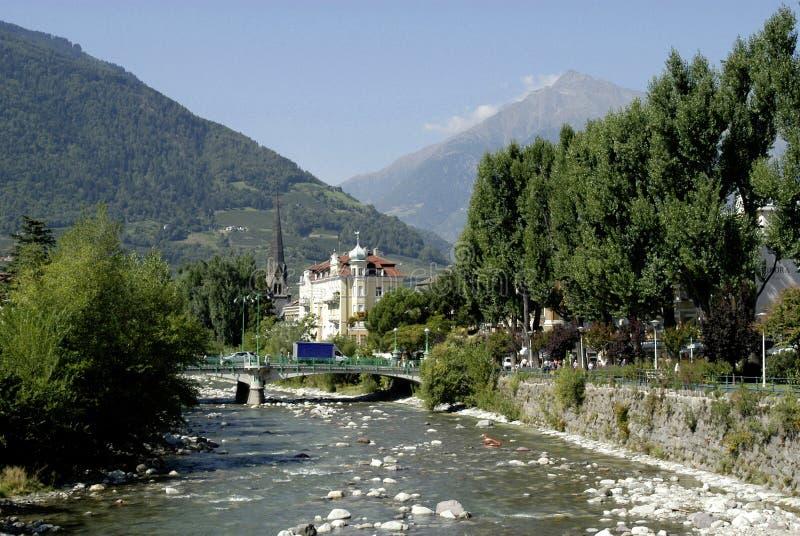 Merano i södra Tyrol royaltyfri foto