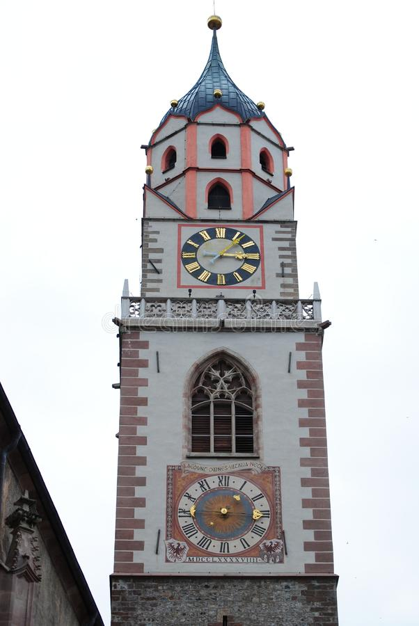 Download Merano's bell tower stock image. Image of building, panorama - 16330131