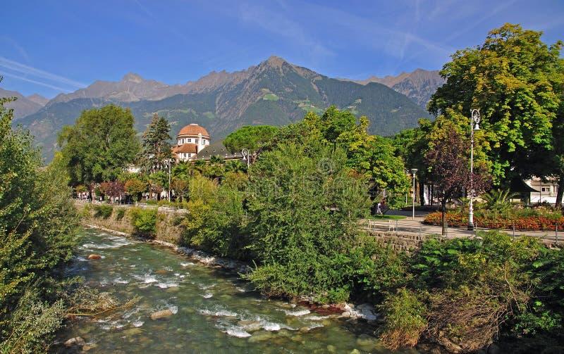 Merano, Tyrol du sud, Italie photographie stock libre de droits