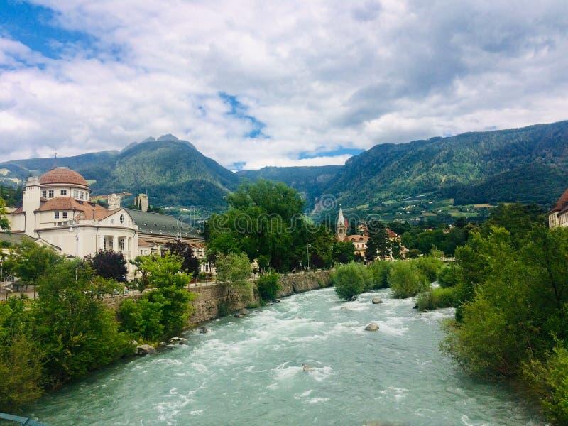 Merano, Włochy, Południowy Tyrol, Europa obraz royalty free