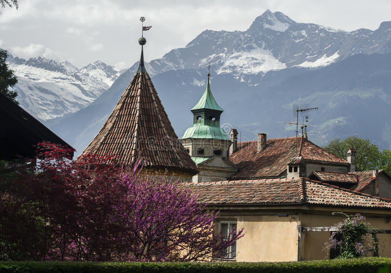 Merano, Zuid-Tirol, Italië stock foto's
