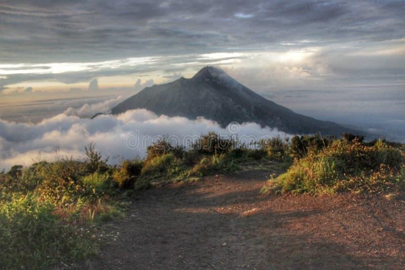Merapi山 免版税库存图片