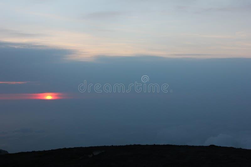 Merapi fire mountain stock photos