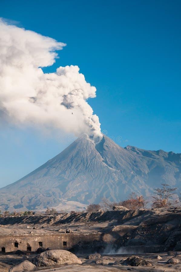 Merapi the volcano stock image