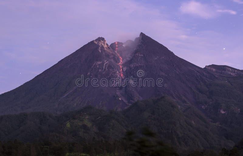 Merapiberg Indonesië Yogyakarta stock afbeelding