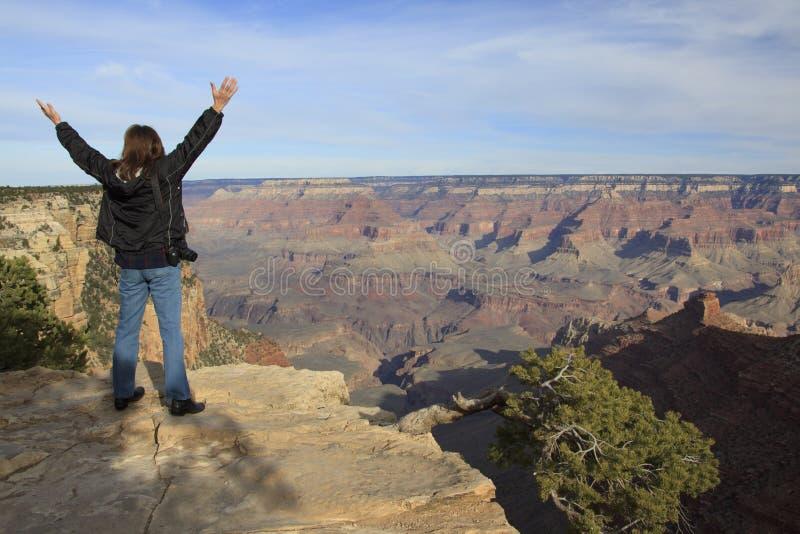 Meraviglia e libertà al grande canyon immagine stock libera da diritti