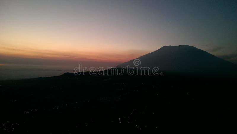Merbabu山 免版税图库摄影