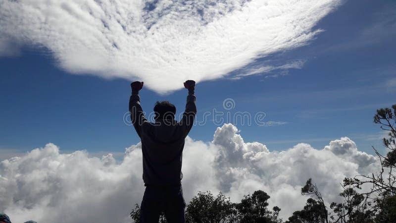 Merbabu гор приключения стоковая фотография rf