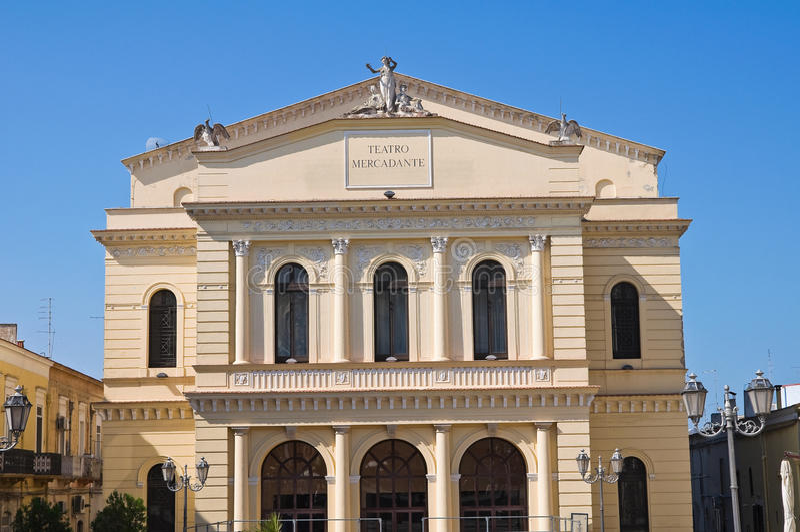 Mercadante theatre. Cerignola. Puglia. Italy. Perspective of the Mercadante theatre. Cerignola. Puglia. Italy royalty free stock image