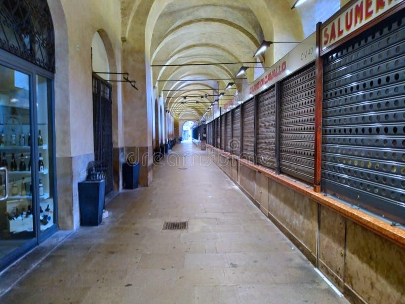 Mercado 'Itália do Sotto IL Salone de Pádua ' fotos de stock