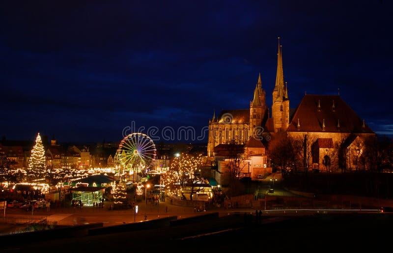 Mercado 06 do Natal de Erfurt imagens de stock
