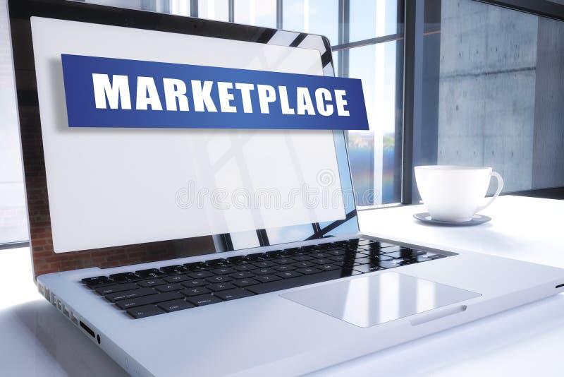 mercado stock de ilustración