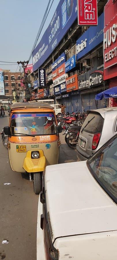 Mercado Abid Lahore Pakistán fotografía de archivo