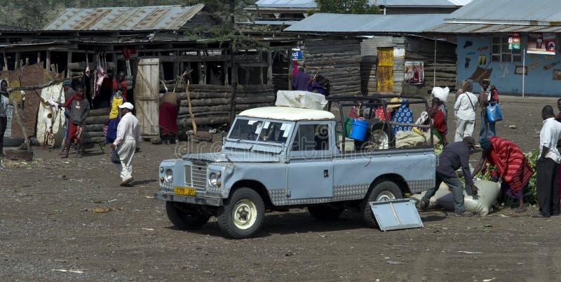 Mercado africano, Tanzânia fotos de stock