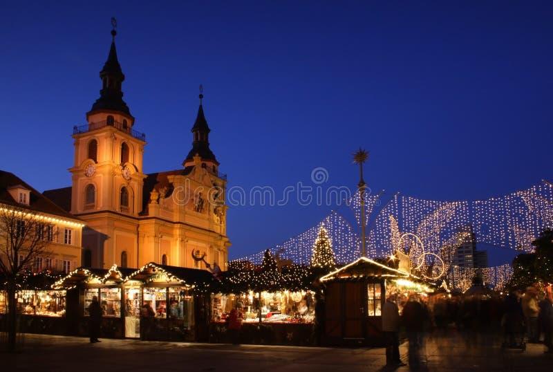Mercado alemán de la Navidad imagenes de archivo