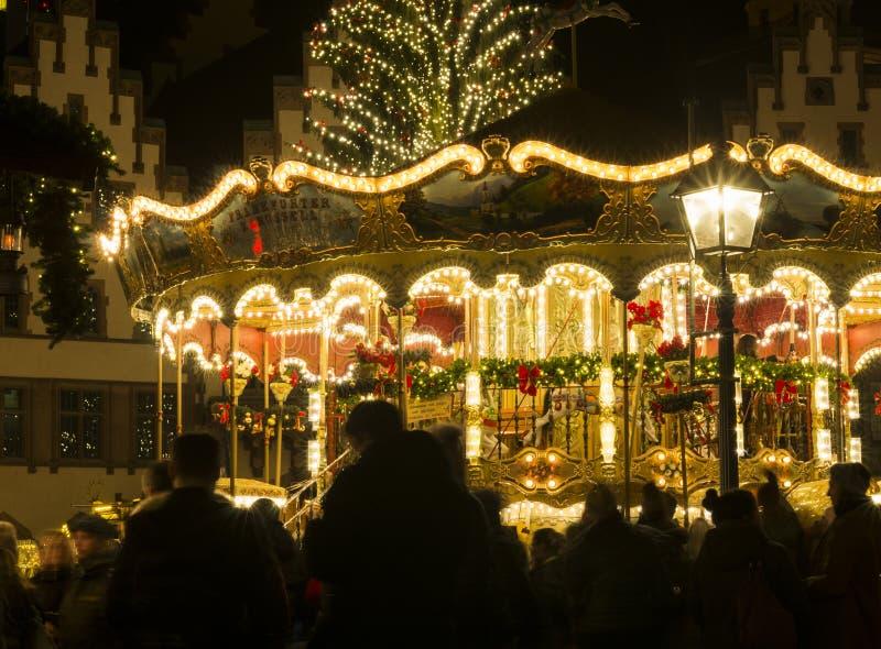 Mercado alemão do Natal em Francoforte - são - cano principal, Alemanha fotos de stock
