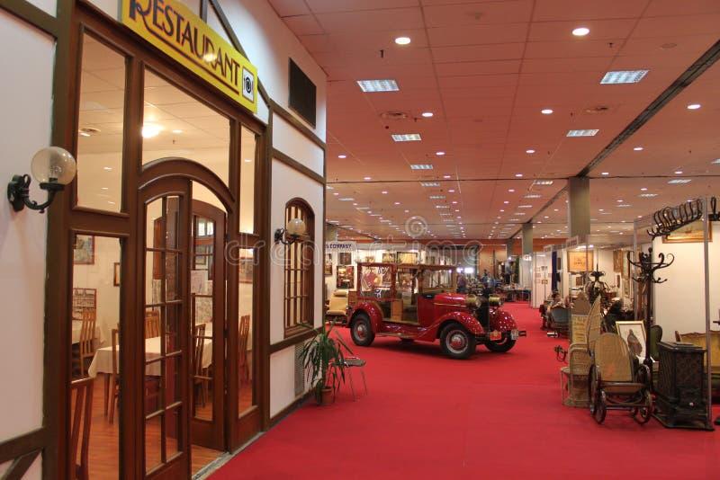 Mercado antiguo de la exposición foto de archivo