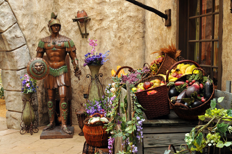 Mercado antiguo de Oriente Medio foto de archivo libre de regalías