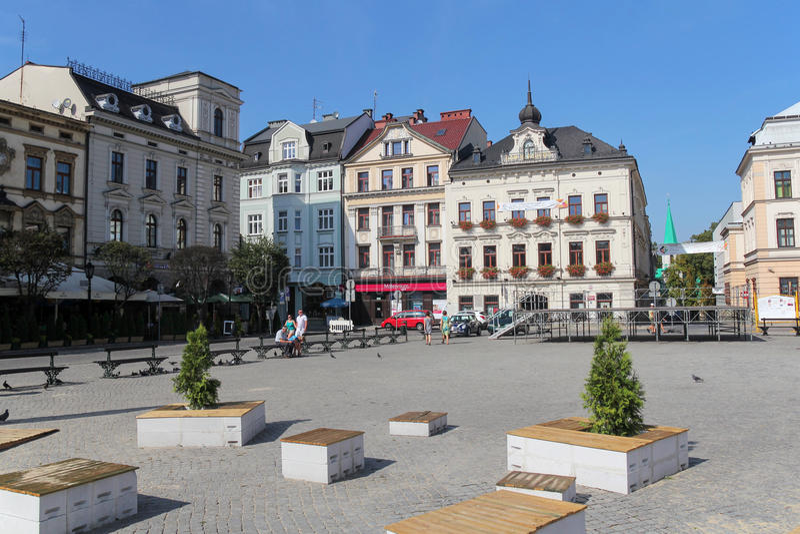 Mercado bonito em Cieszyn, Polônia foto de stock royalty free