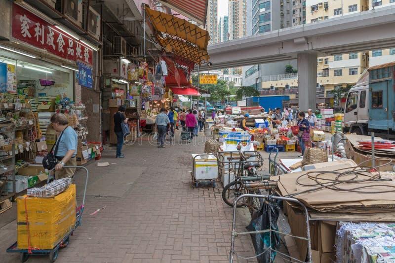 Mercado callejero de Mong_Kok foto de archivo libre de regalías